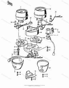 Kawasaki Motorcycle 1975 Oem Parts Diagram For Meters