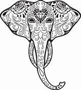 Skull Coloring Sugar Advanced Adult Elephant Animal Kidspressmagazine Dead Mandala Tattoo Skulls Adults Colouring Animals Malvorlagen Ausmalen Tattoos Vorlagen Ausdrucken sketch template