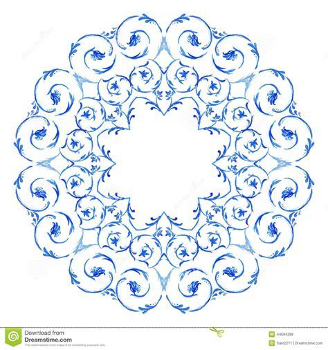 border  swirls floral motif frame stock vector