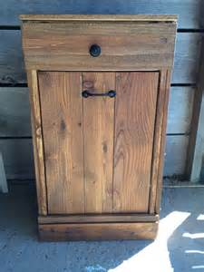 tilt out trash bin farmhouse trash can cabinet by repurposemama