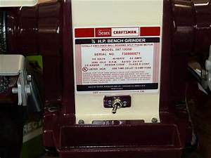 Sears Bench Grinder 397 19470 Wiring Diagram