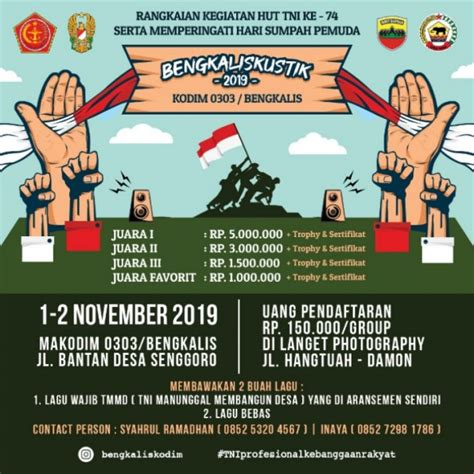 HUT TNI ke 74, Kodim 0303/Bengkalis Taja Festival Musik ...