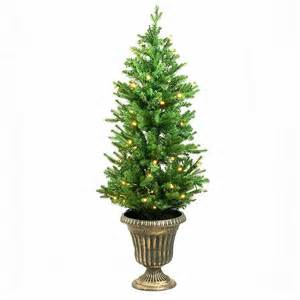 Menards Christmas Trees by 4ft Potted Pre Lit Artificial Christmas Tree 4ft