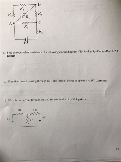 Solved Find The Equivalent Resistance Following Circ