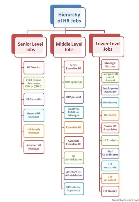 human resource management hr jobs hierarchy structurecom