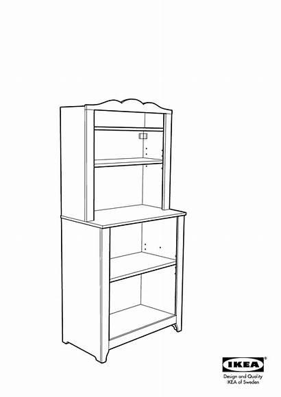 Hensvik Ikea Cabinet Assembly Shelf Unit Instruction