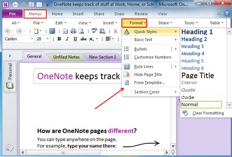 onenote section template archiv starmoon