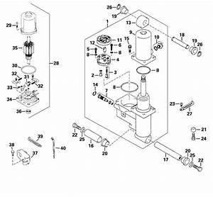 Evinrude Power Trim  Tilt Hydraulic Parts For 2001 50hp