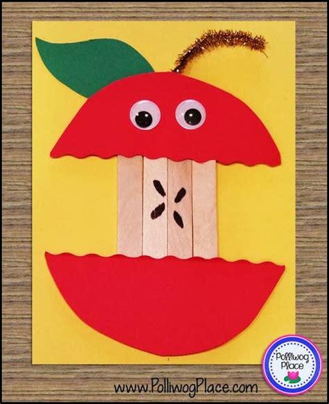 september apple craft craft stick apple teaching 160 | 4841de24fc78783064195a8f4a0e7959