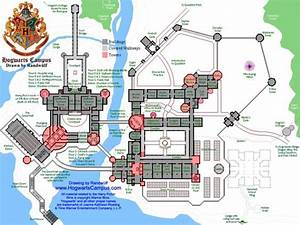 Map of the Hogwarts Campus! This map isn't shown on the ...
