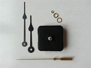 Clock Kit Continuous Sweep Battery Quartz Movement W   Hands