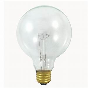 2 5 V Christmas Light Bulbs Replacement Satco S3652 40w 120v Globe G30 Clear E26 Base Incandescent