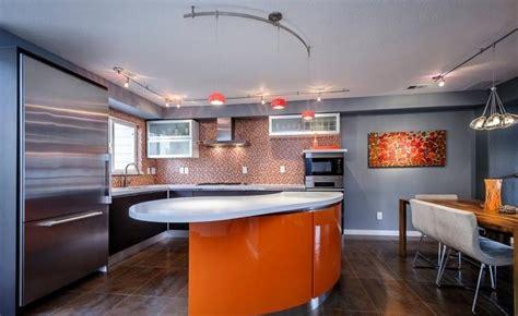 cuisine couleur orange idées de cuisine moderne style élégance pour votre maison