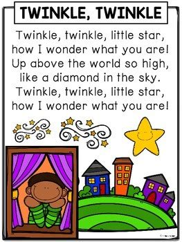 nursery rhymes twinkle twinkle  star