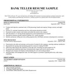 resume templates for experienced banking professionals bank teller resume sle resume companion career