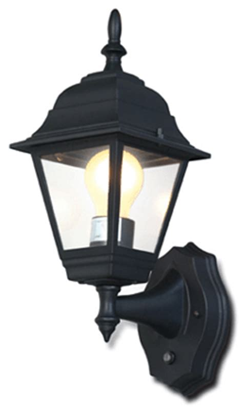 4 pannel outdoor wall mount lantern w smart photocell