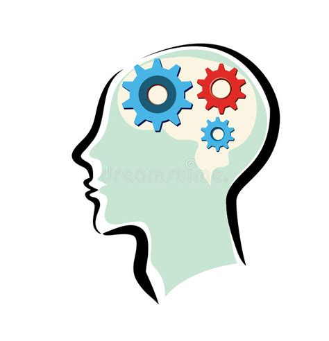 thinking clipart free mans with brain and thinking process stock vector