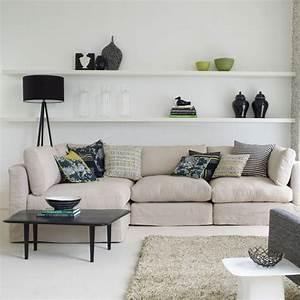 Floating shelves in living room marceladick