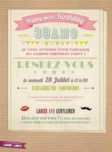 Faire Part Anniversaire 60 Ans : carte d 39 invitation anniversaire r tro 40 ans pinterest ~ Edinachiropracticcenter.com Idées de Décoration