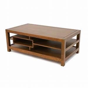 Table Basse Bois Foncé : table basse rectangulaire bois arster 5395 ~ Teatrodelosmanantiales.com Idées de Décoration