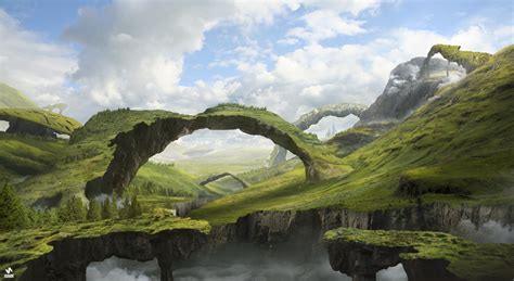 fantasy Art, Landscape, Arch Wallpapers HD / Desktop and ...