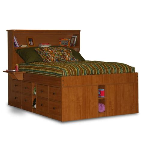 king size captains bed  drawers woodworking projects
