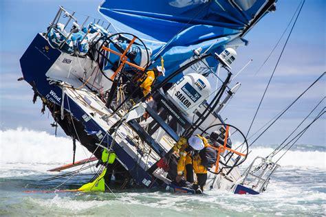 volvo ocean race  finish singletrack magazine
