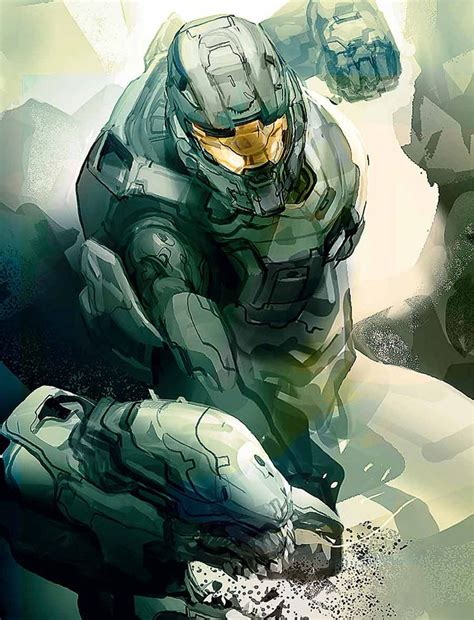 Halo 4 Master Chief Concept Video Games Pinterest