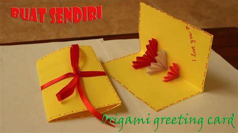 membuat origami kartu ucapan easy origami greeting