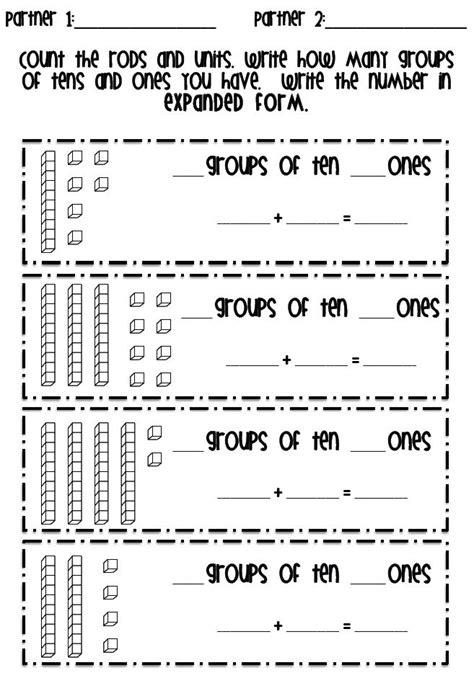 Base Ten Math Worksheets  Decimal Place Value Worksheets With Base Ten Blocks Pv Ccss 2 Nbt 5