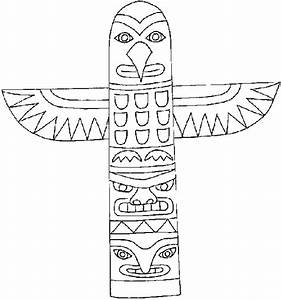 free coloring pages of animal totem poles With totem pole design template