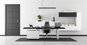 Bureau Moderne Noir Et Blanc Illustration Stock