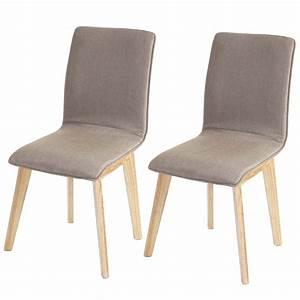 Chaise En Tissu : lot de 6 chaises de salle manger en tissu pied en bois cds04290 d coshop26 ~ Teatrodelosmanantiales.com Idées de Décoration