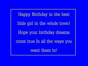 Little Girl Happy Birthday Quotes. QuotesGram