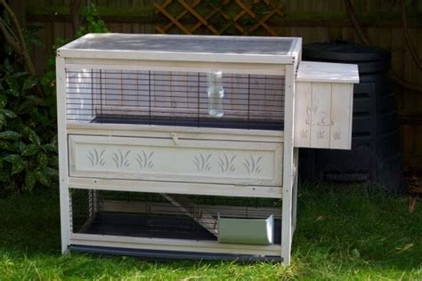 Indoor Wooden Rabbit Hutch by Ferplast Wooden Cottage Indoor Rabbit Hutch Cage Large