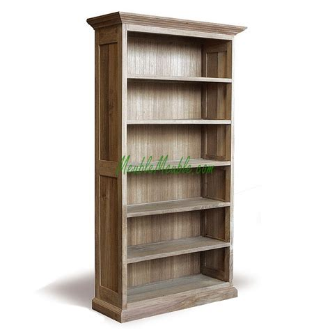 Wood Bookcase by Reclaimed Wood Bookcase 4sv Recycled Teak Furniture