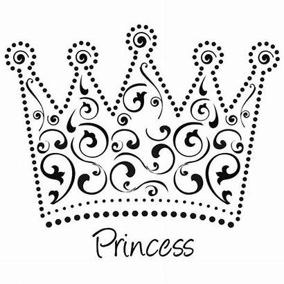 Crown Coloring Princess Pages Tiara Template Queen