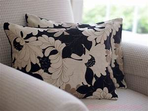 home decor floral pillow cover black beige cream 12 x 16 With black and cream decorative pillows