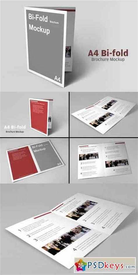A4 Bifold Brochure Mockup Brochures 187 Page 11 187 Free Photoshop Vector Stock