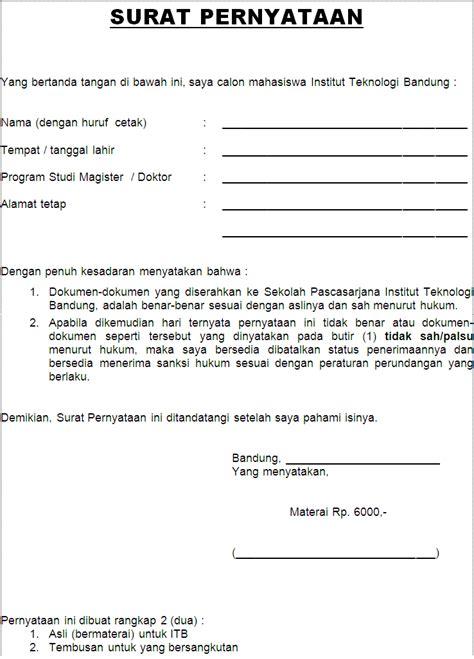 format surat pernyataan tidak mengulangi kesalahan contoh
