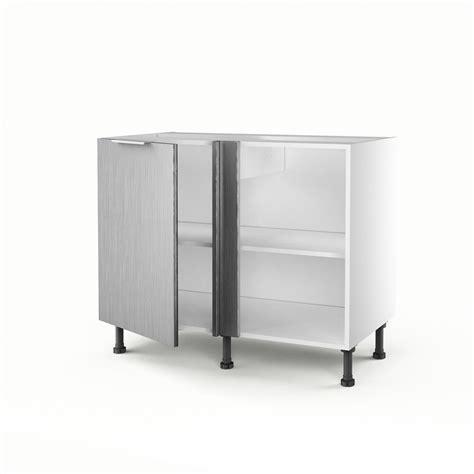meuble de cuisine bas d 39 angle décor aluminium 1 porte stil