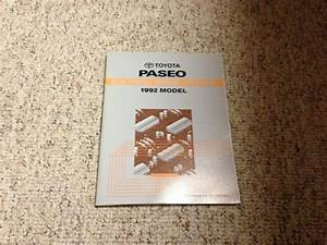 1992 Toyota Paseo Electrical Wiring Diagram Manual 1 5l