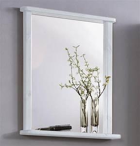 Spiegel Mit Ablage Weiß : massivholz badezimmer spiegel mit ablage badspiegel badm bel kiefer wei gewachst ~ Indierocktalk.com Haus und Dekorationen