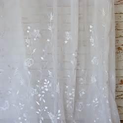 designer gardinenstoffe gardinenstoffe weiß mit raffinierter stickerei