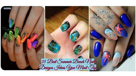 summer beach nail designs ideas
