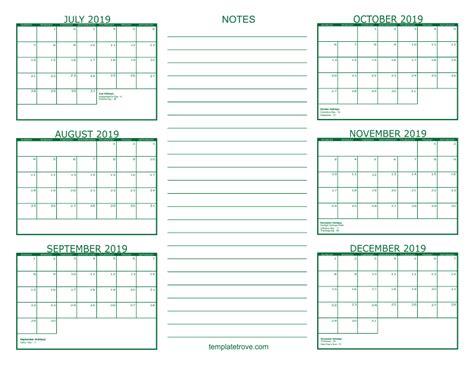 month calendar