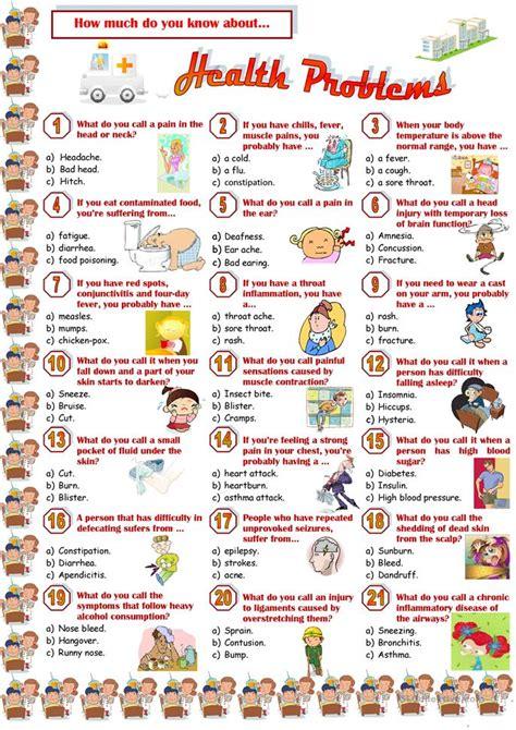 Health Problemsquiz Worksheet  Free Esl Printable Worksheets Made By Teachers