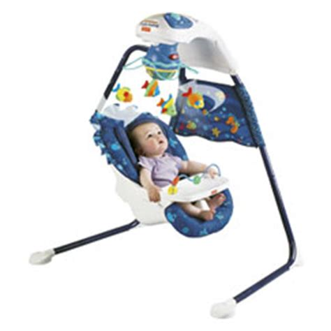 fisher price wonders aquarium cradle swing new ebay