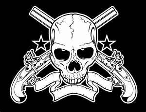 Skulls And Guns Wallpaper - WallpaperSafari