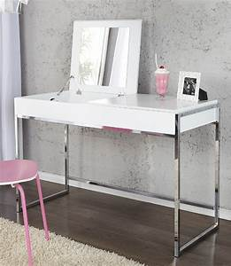 Schminktisch In Weiß : schminktisch konsole highline weiss ablage kosmetiktisch laptoptisch m spiegel ebay ~ Markanthonyermac.com Haus und Dekorationen